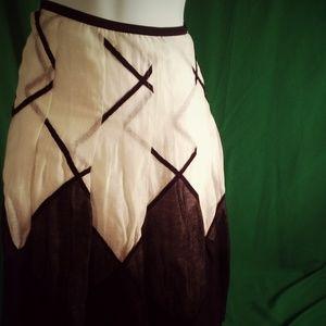 Nic + Zoe black & white skirt
